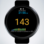 BLE Heart Rate Watch Face