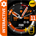 Watch Face Black Orange
