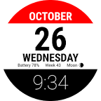 Tear-off Calendar - Watch Face